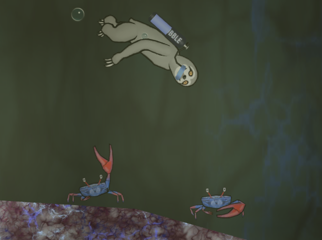 crabs in finished scene